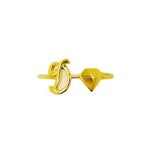 D per Devotion 18 K Gold Initial Ring